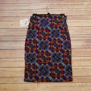 LuLaRoe Skirts - Colorful blue geometric pattern LuLaRoe Cassie